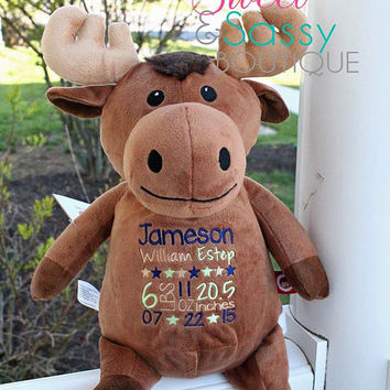 Personalized Moose stuffie