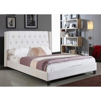 ABBYSON LIVING Madison Ivory Linen Nailhead Trim Wingback Bed | Overstock.com Shopping - The Best Deals on Beds