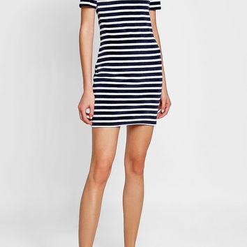 Striped Velvet Dress - T by Alexander Wang | WOMEN | AU STYLEBOP.COM