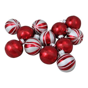 """Pack of 4 Matte Red and Lime Green Glitter Diamond Christmas Ball Ornaments 4"""" (100mm)"""