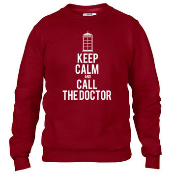 Keep Calm And Call The Doctor Who Crewneck sweatshirt