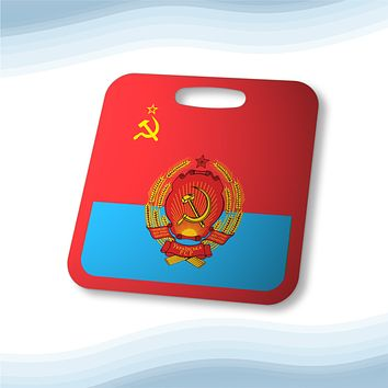 Ukrainian Soviet Socialist Republic with Coat of Arms Aluminum Bag Tag