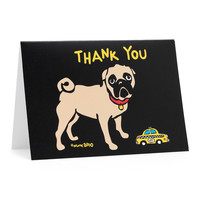 NYC Pug Thank You Cards
