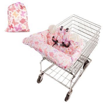 Baby Kids Shopping Cart Cushion Kids Trolley Pad Baby Shopping Push Cart Protection Cover Baby Chair