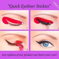 80 pcs Stickies Perfect Quick Eyeliner Stencils Cosmetic Eye Makeup ORIGINAL US2
