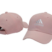 "Unisex Pink ""Adidas"" Embroidered baseball Cap Hats"