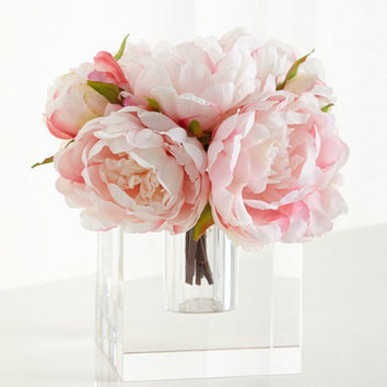 John-Richard Collection Peony Ice Floral Arrangement | Neiman Marcus
