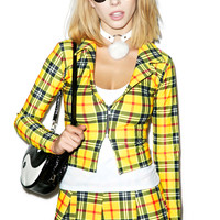 J VALENTINE Clue-Less Student Costume YELLOW