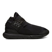 Y-3 Black Qasa and white High Top Sneaker - Sneakerboy
