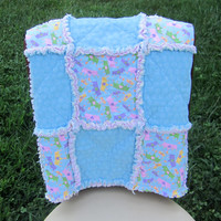 Little Princess Rag Quilt Girls Crib Blanket