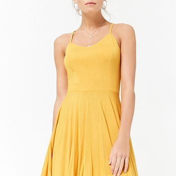 Crisscross-Back Skater Dress