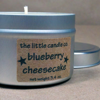 Soy Candle Tin Blueberry Cheesecake Scented by littlecandles