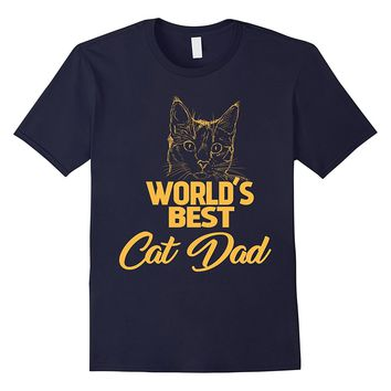 World's Best Cat Dad Cat Lover Gift T-Shirt