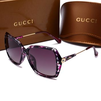 GUCCI Stylish Women Men Elegant Sun Shades Eyeglasses Glasses Sunglasses Print I-HWYMSH-YJ