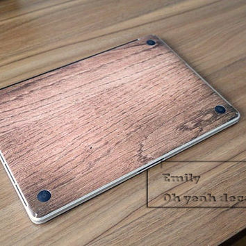 wood Decal for Macbook Pro, Air or Ipad Stickers Macbook Decals Apple Decal for Macbook Pro / Macbook Air