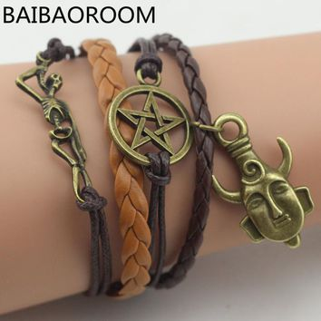 Supernatural Amulet Dean Leather Bracelet