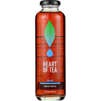 Heart Of Tea Tea - Iced - Natural Black - Classic - 14 oz - case of 12
