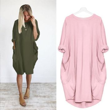 Autumn Long Sleeve Casual Loose Dress Maternity Clothes For Pregnant Women Vestidos Gravidas Lady Dress Pregnancy Dresses