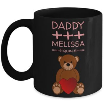 Valentines Teddy Bear Mug with Message - Valentines Gift for Kids - Valentine Day Chocolate Cup Gift - Pencil Holder & Candy Jar for Vday 2017
