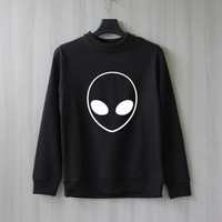 Alien Sweatshirt Sweater Shirt – Size XS S M L XL