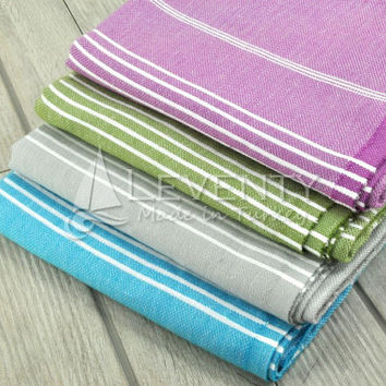 FREE & EXPRESS SHIPPING Bath Shower Set of 4 Bath Towels Swimsuit Cover Up Pareo Linen Sarong Beach Style Beach Towel Bath Wrap Tribal Towel