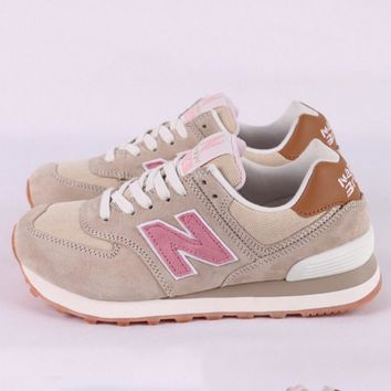 New balance abric is breathable n leisure sports Couples forrest gump running Khaki-1