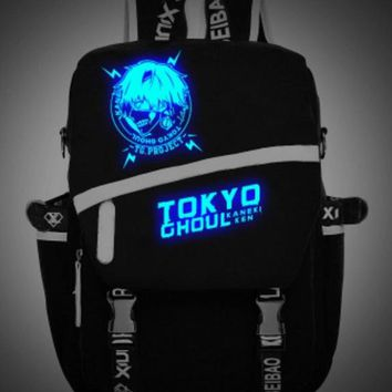 tokyo ghoul Kaneki Ken  Luminous lolita  mask teenagers Backpack japanese School uniform travel Shoulder Bag Laptop Bags