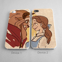 Beauty And Beast Disney Couples Phone Case iPhone 4/4S, 5/5S, 5C Series - Hard Plastic, Rubber Case