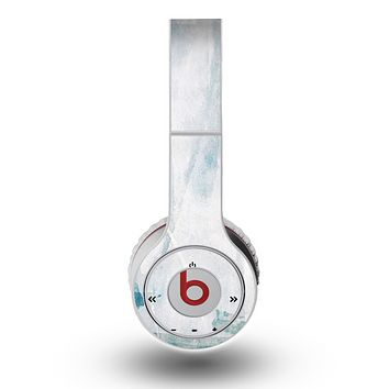 The Teal and White WaterColor Panel Skin for the Original Beats by Dre Wireless Headphones