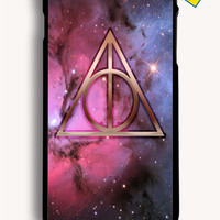 Nebula Harry Potter Symbol Deathly Hallows for Iphone 6 Plus Cover Rubber Case