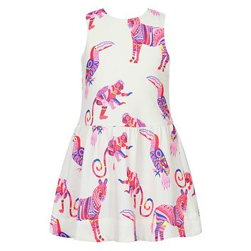 Girls Summer Dress Baby Girl Party Dresses Children Clothing Animal Pattern Princess Dress Costume for Kids Clothes