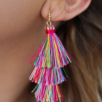 Drift Away Earrings: Pink/Multi