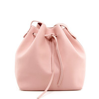 Contrast Drawstring Shoulder Bag in Pink