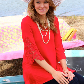 Off To The Races Tunic {Red}