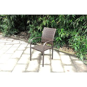 Mainstays Wicker Stacking Dining Chair - Walmart.com