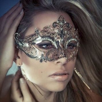 Elegant Metal Laser Cut Venetian Halloween Ball Masquerade Luxury Mask party mask masquerade masks venetian mask halloween