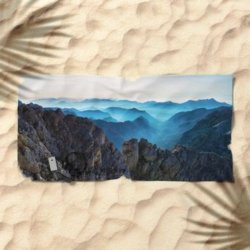 Mountains Breathe Too Beach Towel by Mixed Imagery