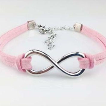 Pink,  purple, bracelet, infinity bracelet, Friendship jewellery, love