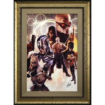 The Mighty Avengers #30 - Limited Edition Artist Proof Giclee on Canvas by Marko Djurdjevic and Marvel Comics Hand Signed by Stan Lee