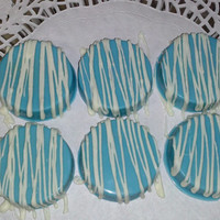 Tiffany Blue and White Chocolate Covered Oreos Tiffany & Co. Edible Wedding Favors It's a Boy  Birthday Party Christening Baby Shower