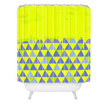 Jacqueline Maldonado Triangle Dip Lime Shower Curtain