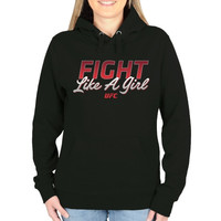 UFC Ladies Fight Like A Girl Pullover Hoodie - Black - http://www.shareasale.com/m-pr.cfm?merchantID=7124&userID=1042934&productID=540316026 / UFC