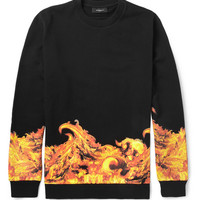 Givenchy - Flame-Print Cotton Sweatshirt | MR PORTER