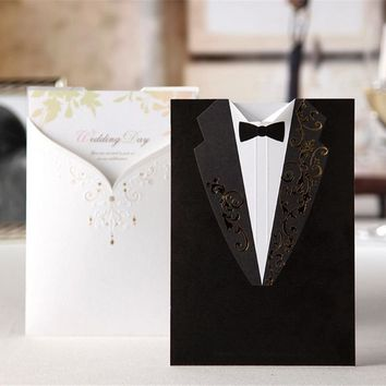 1pcs Sample Laser Cut Wedding Invitations Card Creative Elegant/Vintage