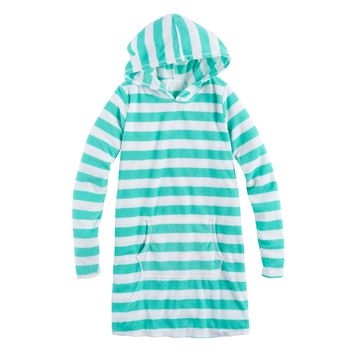 Girls 7-16 SO® Teal Terry Stripe Cover-Up Hoodie