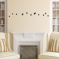 Small flock of birds wall decal