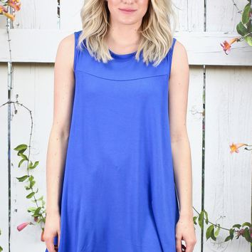 Oversized Swing Tunic Tank {Royal Blue}