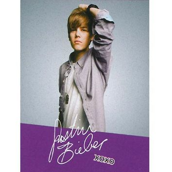 "Justin Bieber Blanket the Bieber Signature Fleece Throw 50"" X 60"" Justin Bieber Collectable Throw."