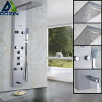 Stainless Steel Thermostatic Rainfall Shower Panel