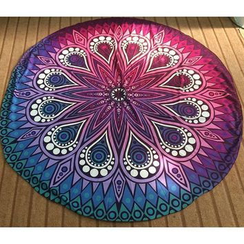ONETOW 9 Style Hot Hippie Round Mandala Tapestry Indian Wall Hanging Beach Throw Towel Yoga Mat Blanket Tablecloth Bed Sheet Home Decor